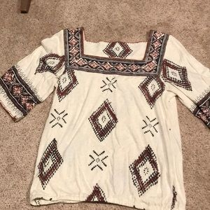 Lucky Brand Boho Top New Without Tags XL